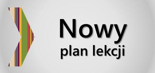 Uwaga! Zmiana planu lekcji!